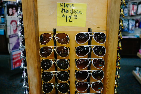 """Elvis sunglasses"" for sale at Boulevard Souvenirs. (Brandon Dahlberg)"