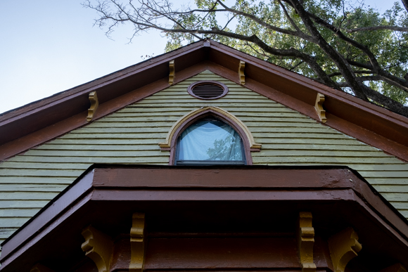 The Dave Wells House features striking original woodwork. (Brandon Dahlberg)