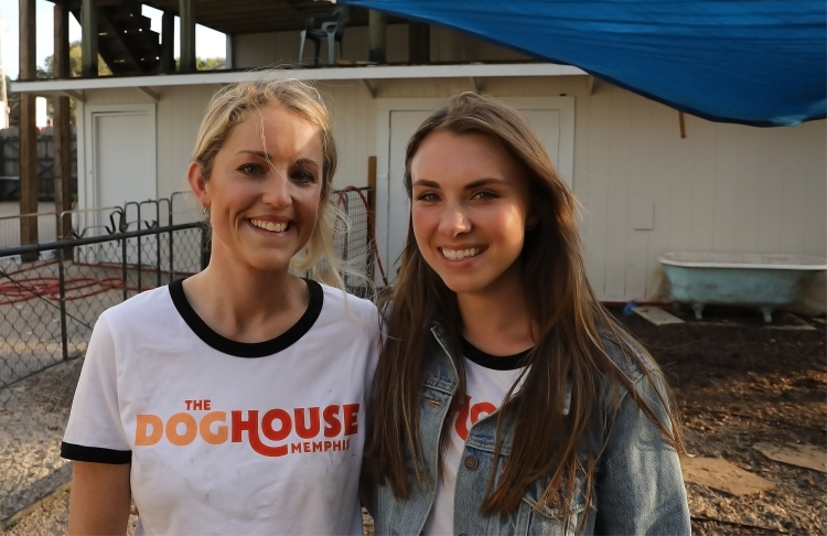 Owner Hayley Efird (L) and creative director Brianna Kraus (R) launched The Doghouse with office manager Judith Currin in July. (Patrick Lantrip/Daily Memphian)