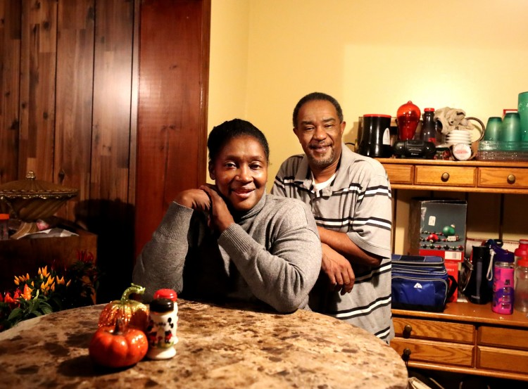 Homeowners  Mike and Nyasha Daniels in their Frayser home, which they purchased from the Frayser Community Development Corporation in 2018. (Houston Cofield/Daily Memphian)