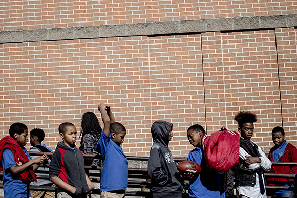 Recess at the Memphis Scholars Caldwell-Guthrie School.