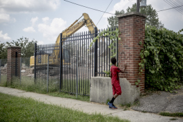 The demolition of Foote Homes began in July.