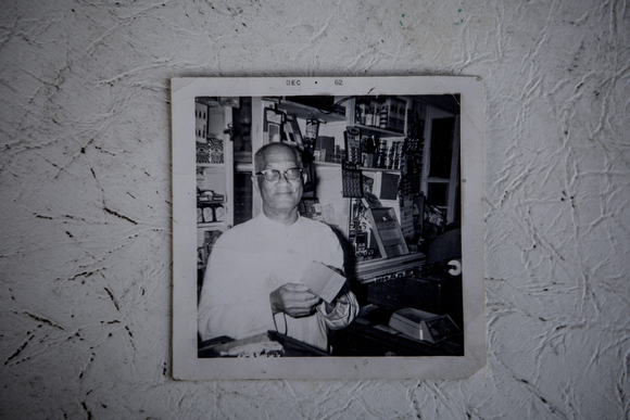 William Crawford, Deidra Tuggle's grandfather, in a family photo of him at the sundry store that he opened up in Orange Mound.
