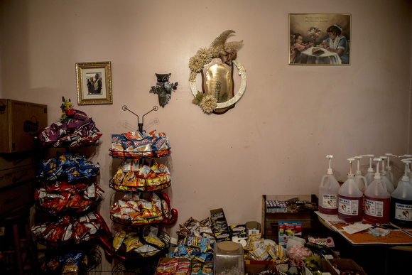 The selection of snacks at the home of Deidra Tuggle, the Candy Lady of Orange Mound.