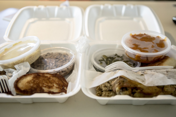 A meat and two sides are the offering at Orange Mound Grill for less than $10.