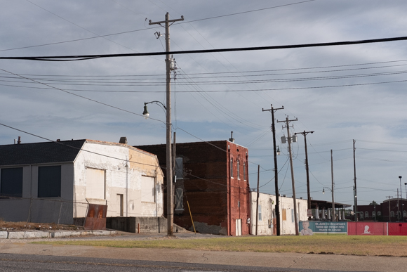 Blighted buildings near Second Street, adjacent to lots that St. Jude owns. (Brandon Dahlberg)
