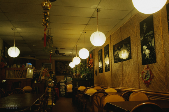 The compact dining room of Lotus Vietnamese Restaurant