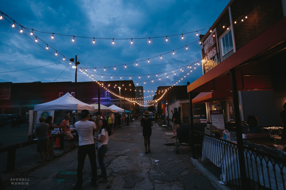 One thousand lights were strung along Floyd Alley at The Edge Gets Lit Alley Party.