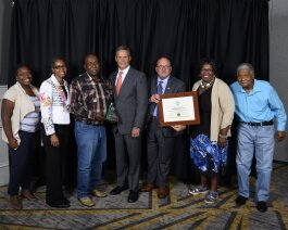 Members of the Mitchell Heights Neighborhood Association were presented with the 2019 Tennessee Governor's Award for Environmental Stewardship by Governor Bill Lee (center) in Nashville on August 1. (TN Green Gov)