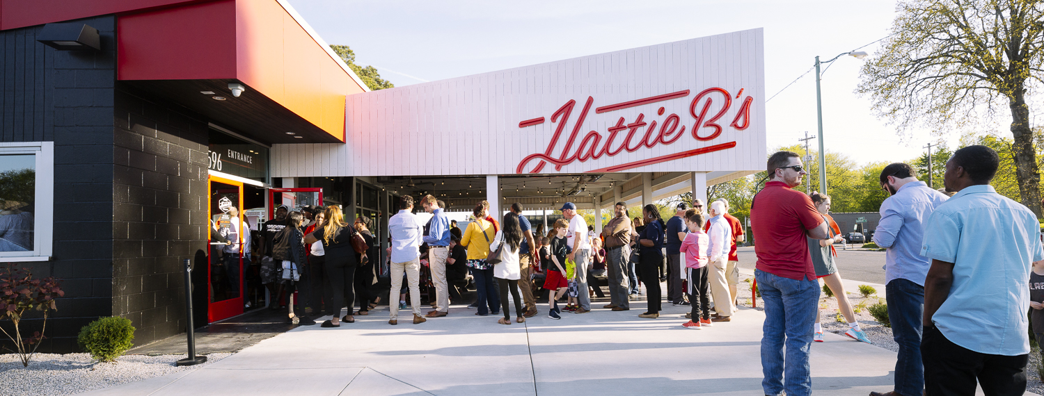 Visitors to Hattie B's Hot Chicken restaurant in Midtown.  <span class='image-credits'>Ziggy Mack</span>