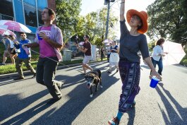 The second line parade through the streets of Madison Heights was lead by the Mighty Souls Brass Band. (Ziggy Mack)