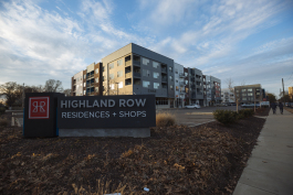 Highland Row is one of the many new mixed-use, high density developments to be built on or near the Highland Strip in the last few years. (Ziggy Mack)