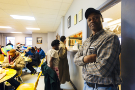 Anthony Braxton waits for his meal at the Society of St. Vincent de Paul of Memphis Ozanam Food Mission. (Ziggy Mack)