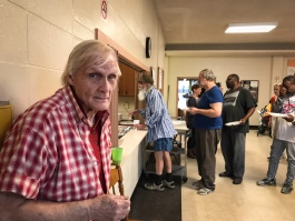 For 15 years Ric Morgan has helped serve a free community meal at Highland Heights United Methodist Church for an average of 75 guests. Once a month, he plans and prepares an original menu. (Cole Bradley)