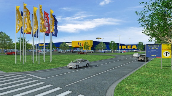Architectural rendering of proposed Memphis IKEA