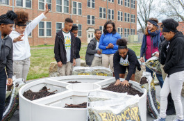 100th Learning Garden Hamilton Middle