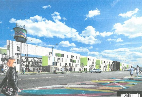 The project will include more than 400 apartments and up to 15,000 square feet of retail.