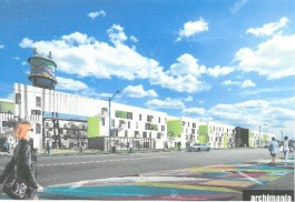 Broad Ave. mixed-use rendering