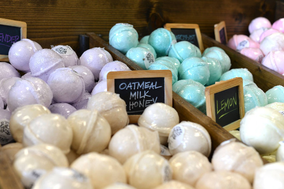 Bath bombs are also a big seller for Buff City.
