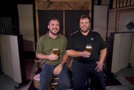 Will Goodwin and Clark Ortkiese, owners of Crosstown Brewing Co.