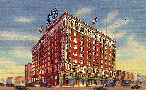 Historic photo of the Chisca Hotel, built in 1913 at 272 South Main Street