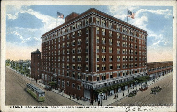 Postcard featuring the Chisca Hotel, circa 1920