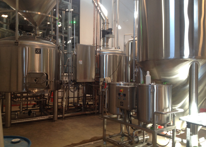 The production side of the brewery is already producing beer in anticipation of next month's opening.