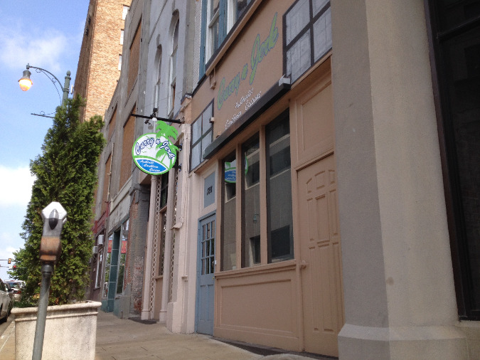 The restaurant enjoys a prime location downtown at 128 Monroe near Front Street.