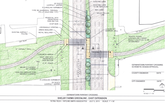 Greenline east extension map