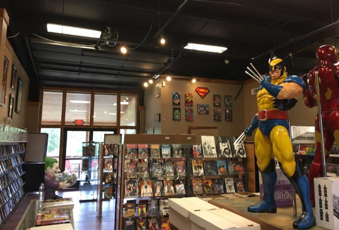 The new Jupiter Comics enjoys a much larger space than its previous location in Collierville.
