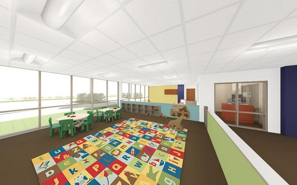 Rendering of children's space at Germantown Athletic Club