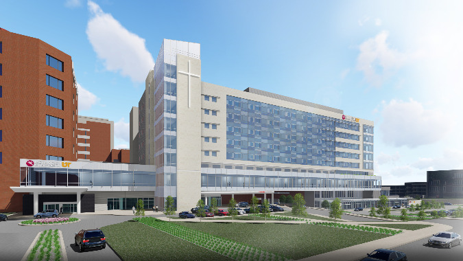 The new Methodist University Hospital tower will help to consolidate patient services.