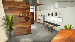 Rendering of Relevant Roasters opened on Broad Ave. in late August