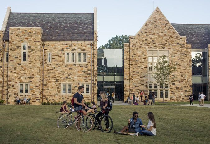 The new Robertson Hall blends seamlessly with the school's older existing Gothic structures.