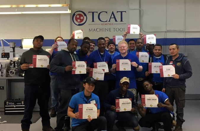 Earlier this year, students earned their National Institute for Metalworking Skills Level I Measurement, Materials & Safety certificates.