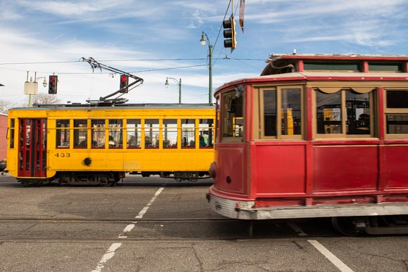 South Main Arts District trolley lines