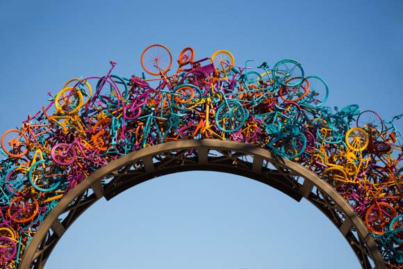 Bikes Memphis Sculptural bike gateway to