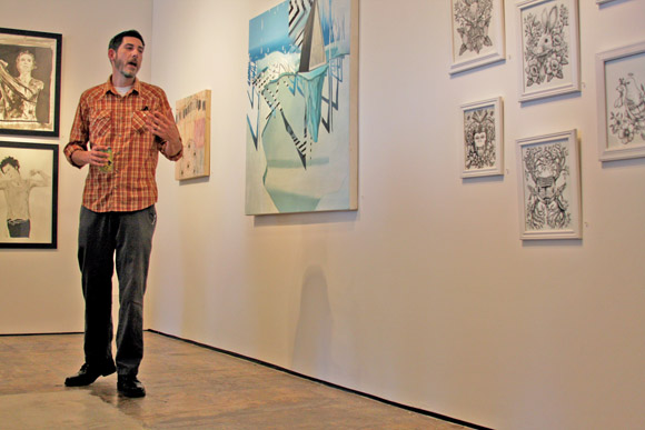 "Bobby Spillman discusses his work at ""Inspired Resistance"" exhibit"