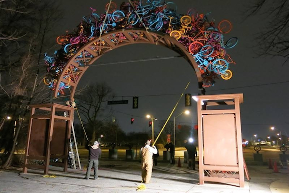 Installation of Bike Gate at Overton Park