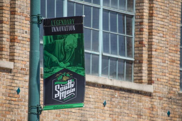 New banners welcome visitors to legendary South Main