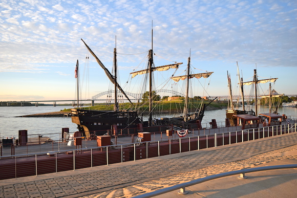 Exact replicas of two of Columbus's sailing ships--the Nina and the Pinta--will be docked at Beale Street Landing until Oct. 6th