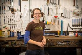 Sylvia Crum is the director of Revolutions Bicycle Co-op