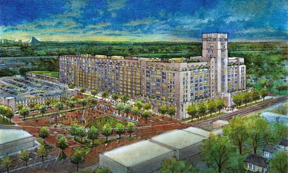 Crosstown development rendering from Looney Ricks Kiss
