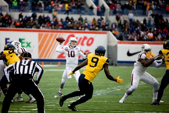 The Texas A&M Aggies faced the West Virginia Mountaineers in the 2014 Liberty Bowl