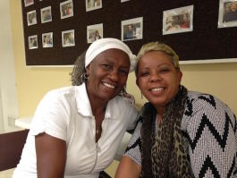 HopeWorks vollunteer Ruby Wray (left) served as Dara Collins' Faith Encourager as Collins completed the Personal and Career Development program