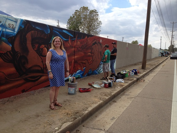 Karen Golightly, director of Paint Memphis, spearheaded an event called Soul Food 5 to add more murals to the Chelsea Greenline