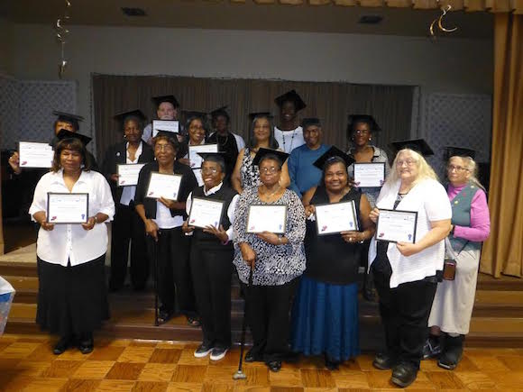 Participants of The Works' Aging Mastery Program accepted their diplomas at the Frayser-Raleigh Senior Center