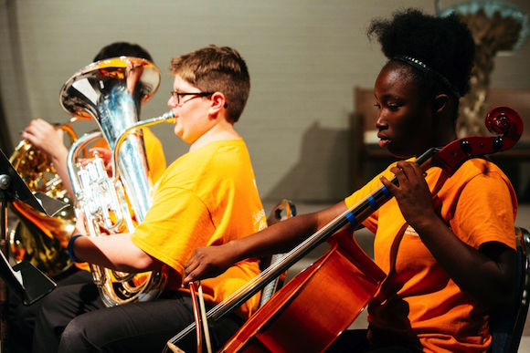 eventy five middle and high school students from around Memphis took part in PRIZM Ensemble's largest summer camp festival to date at Shady Grove Presbyterian Church.