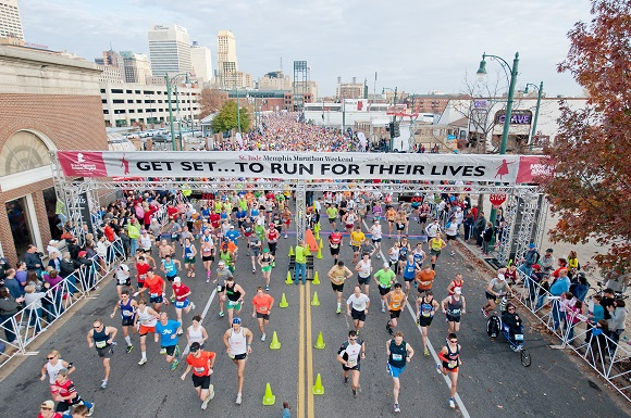 The St. Jude Marathon is Saturday, Dec. 5