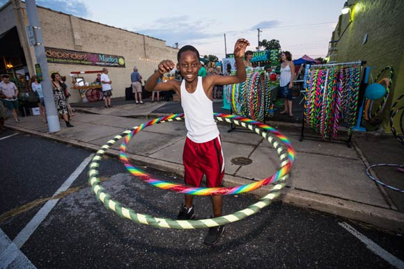 Hooping on Broad Avenue